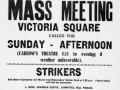 Victoria Square protest poster