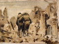 <em>Wounded at Cassino</em> by Peter McIntyre