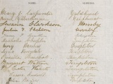 Massive women's suffrage petition presented to Parliament