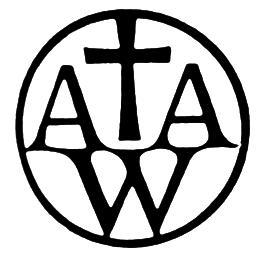 A A W and a cross symbol