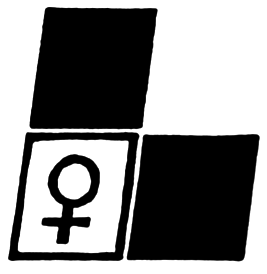 L with woman symbol
